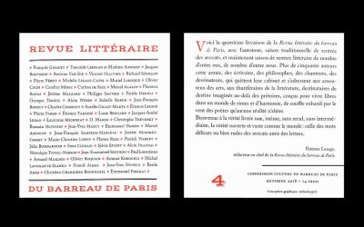 Contributions à la Revue littéraire du Barreau de Paris