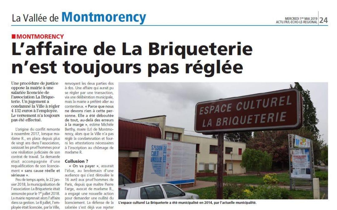 Licenciement : affaire de la Briqueterie à Montmorency