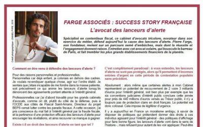 Farge associés : Success story française, l'avocat des lanceurs d'alerte