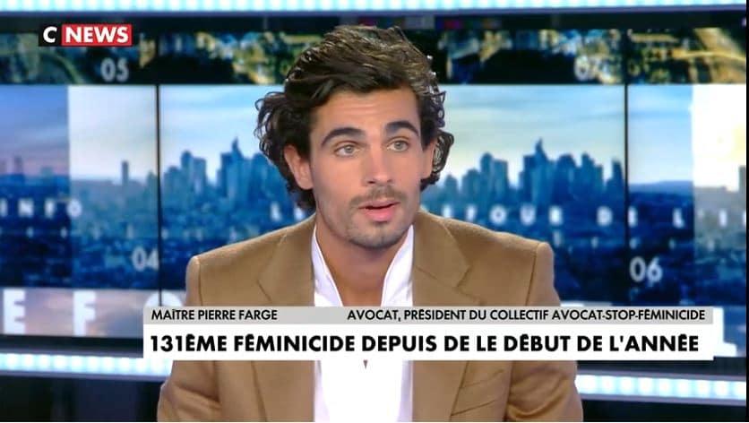 Violences conjugales : Pierre Farge sur CNEWS pour le collectif Avocat Stop féminicide