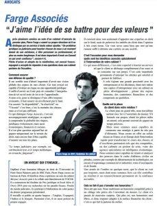 Entretien Pierre Farge Magazine Managers janvier 2018