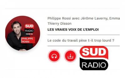 Le code du travail pèse t-il trop lourd ? Pierre Farge à Sud Radio