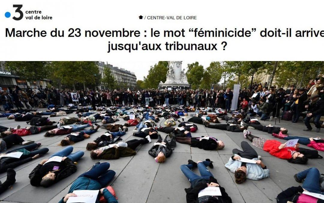 Pierre Farge répond à France 3 Centre Val de Loire concernant le féminicide