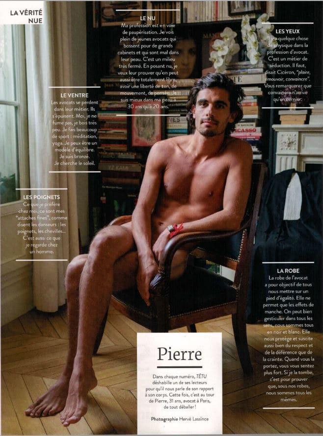 Pierre Farge dans Têtu : la vérité nue