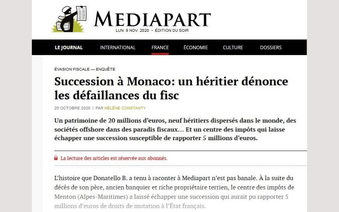Succession à Monaco: un héritier dénonce les défaillances du fisc
