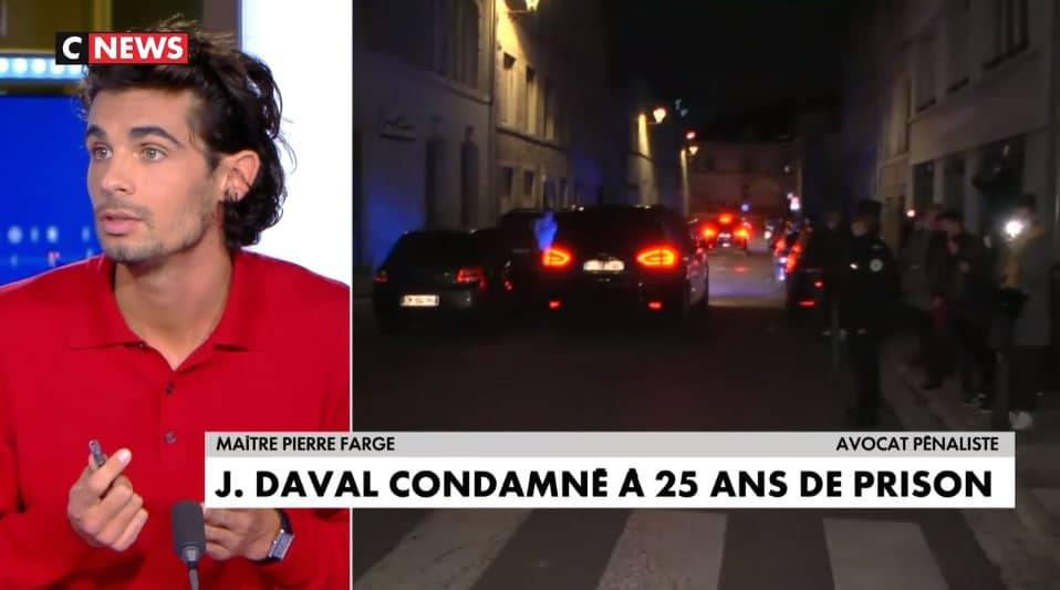 Verdict Daval : Pierre Farge sur le plateau de Soir Infos sur CNEWS