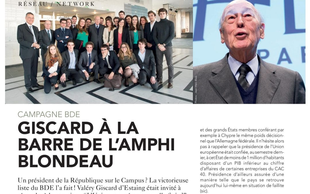 L'Europe selon Giscard à HEC Paris 2013