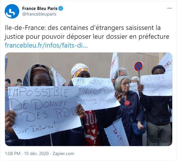 Ile-de-France: des centaines d'étrangers saisissent la justice pour pouvoir déposer leur dossier en préfecture